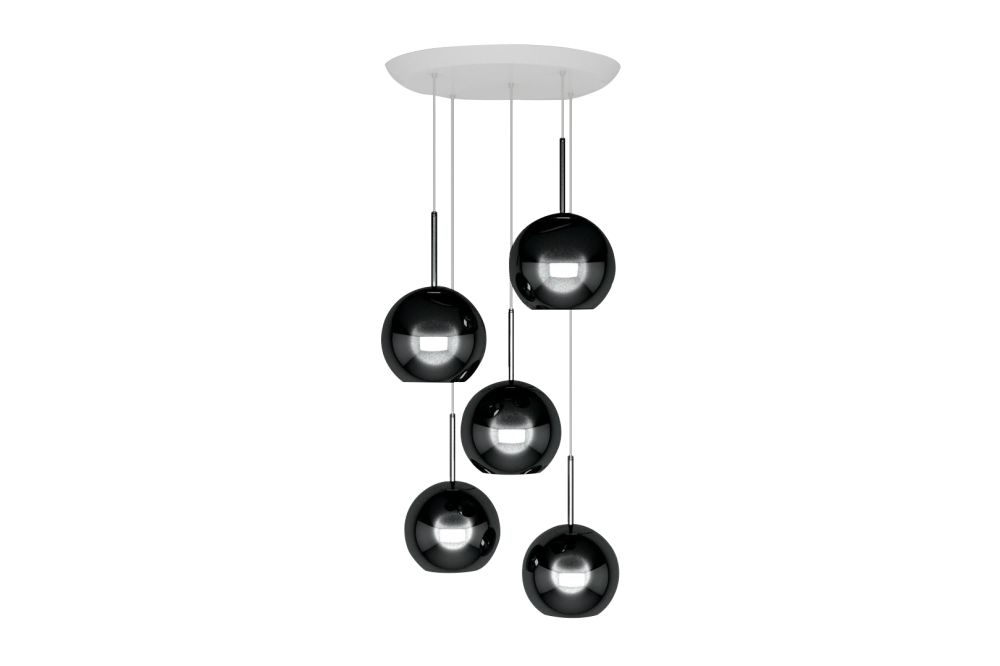 Copper 25 cm Round Pendant System by Tom Dixon