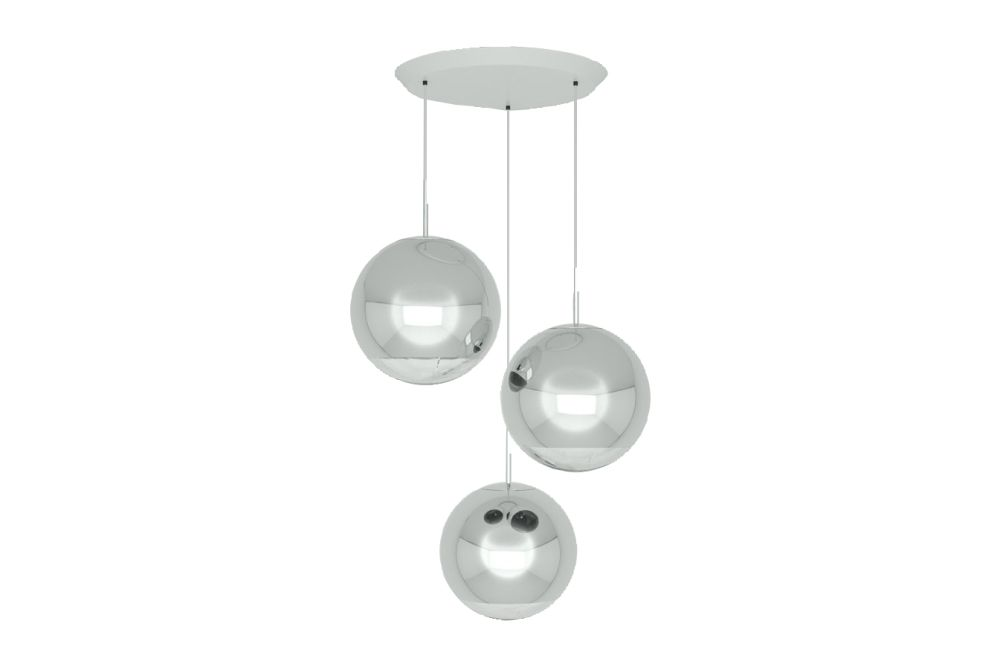 Mirror Ball 40 cm Round Pendant System by Tom Dixon