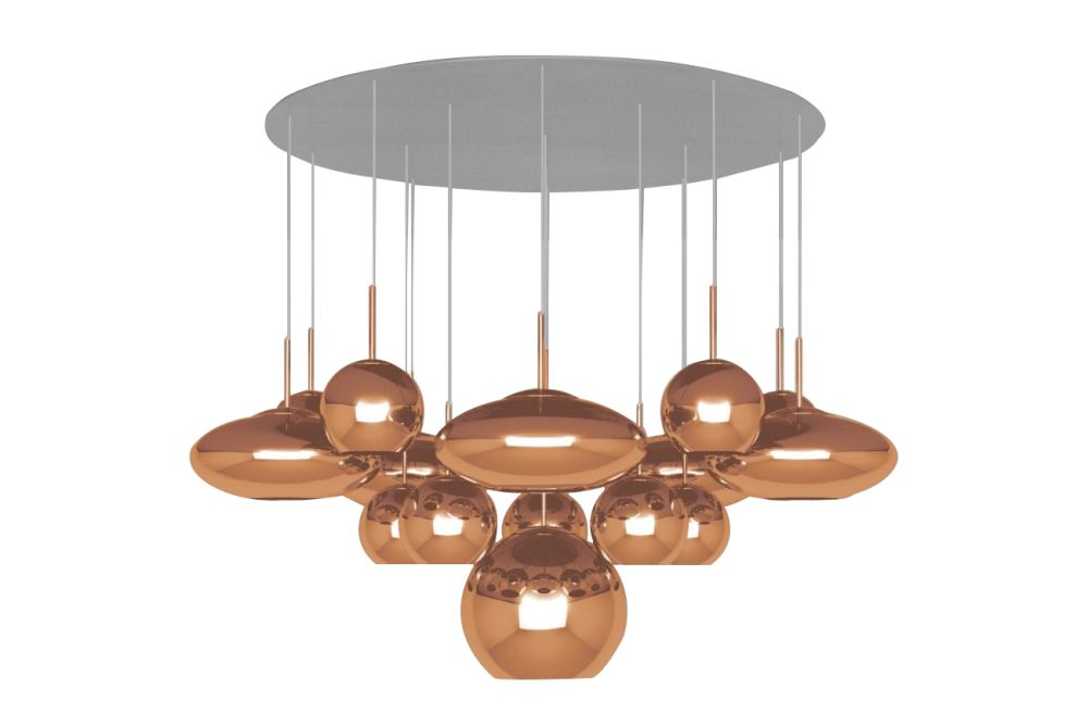 Copper Range Mega Pendant System by Tom Dixon