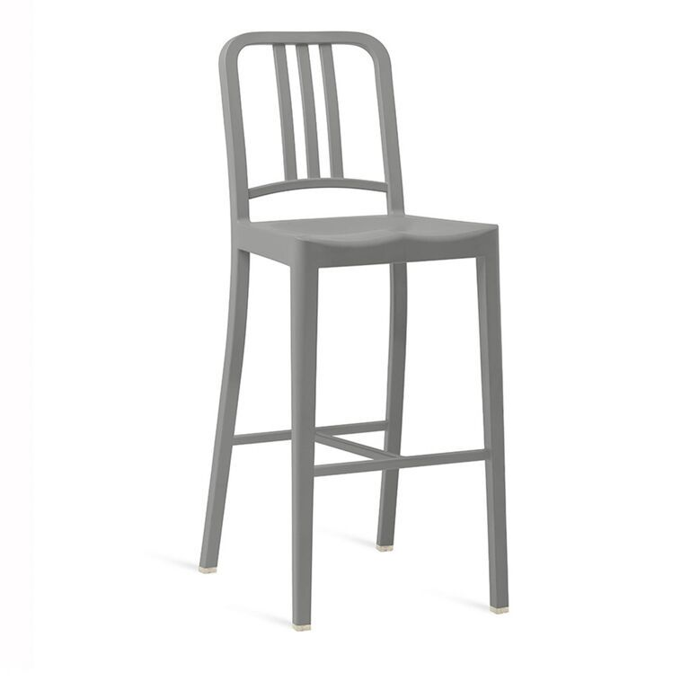 111 Navy Barstool by Emeco
