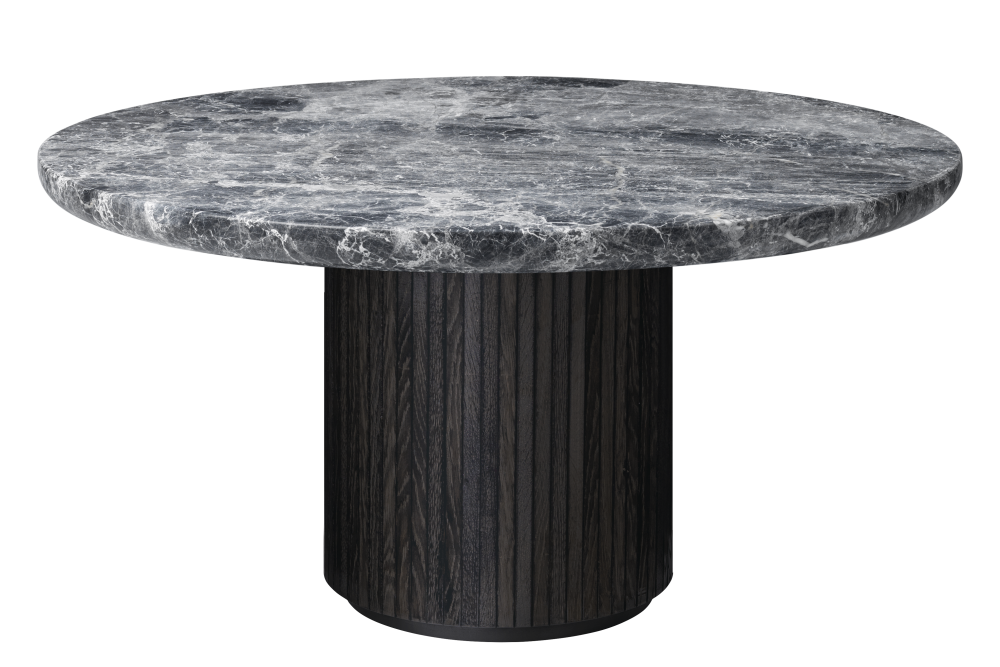 Moon Round Marble Coffee Table by Gubi