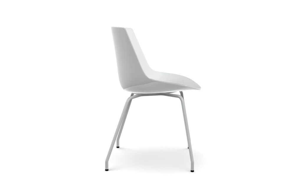 Flow Dining Chair, 4 Legs Base - Set of 2 by MDF Italia