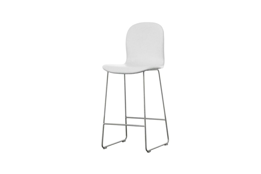 Tate Stool with Backrest by Cappellini