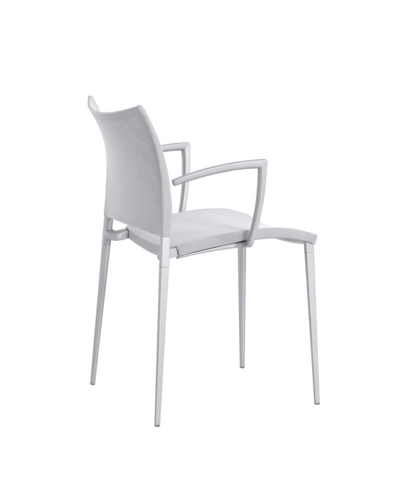 Sand-Air Upholstered Armchair - Stackable by Desalto