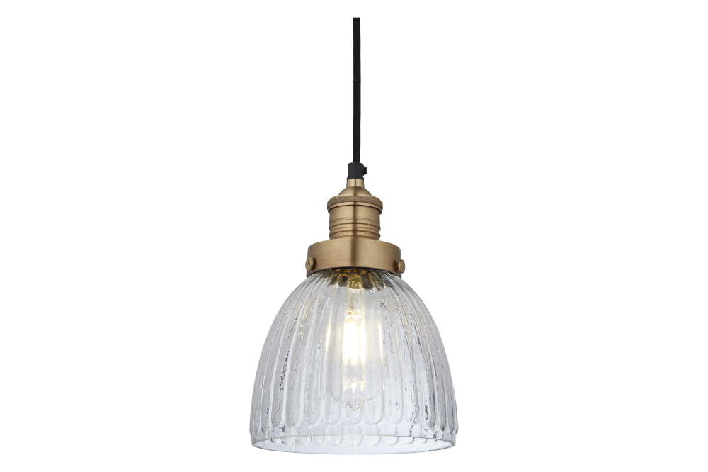 Brooklyn Glass Cone Pendant Light by INDUSTVILLE