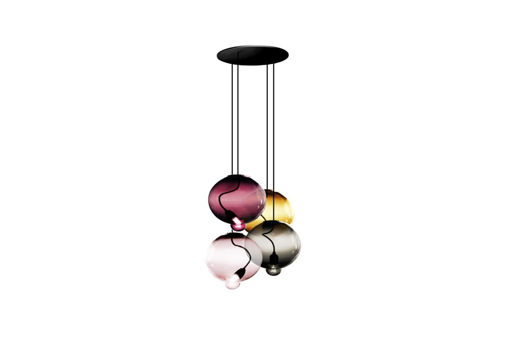 Meltdown Cluster Pendant Light With 4 Diffusers by Cappellini