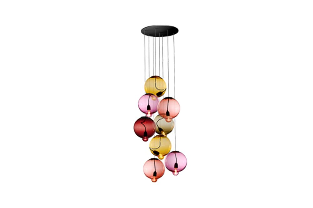 Meltdown Cluster Pendant Light With 8 Diffusers by Cappellini