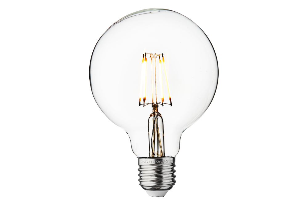 Vintage LED Edison Bulb Old Filament Lamp - 5W E27 Small Globe G95 by INDUSTVILLE