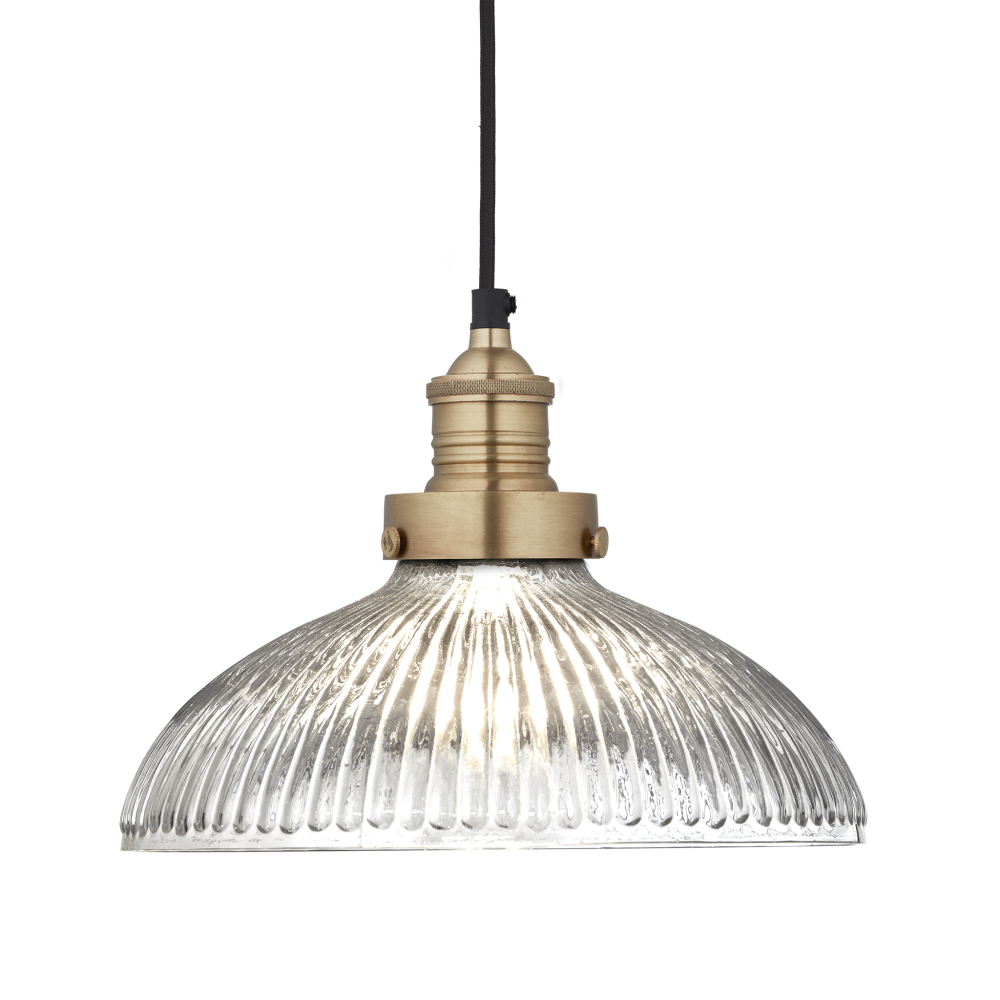 Brooklyn Glass Dome Pendant Light - 12 Inch by INDUSTVILLE