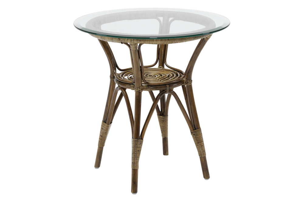 Originals Cafe Table with Glass Top Set of 2 by Sika Design