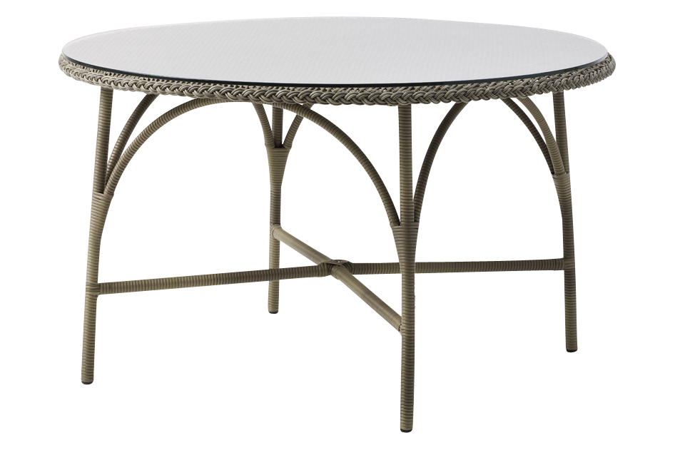 Victoria Round Dining Table with Glass Top by Sika Design