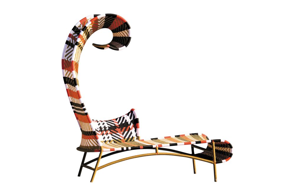 Shadowy Chaise Longue by Moroso