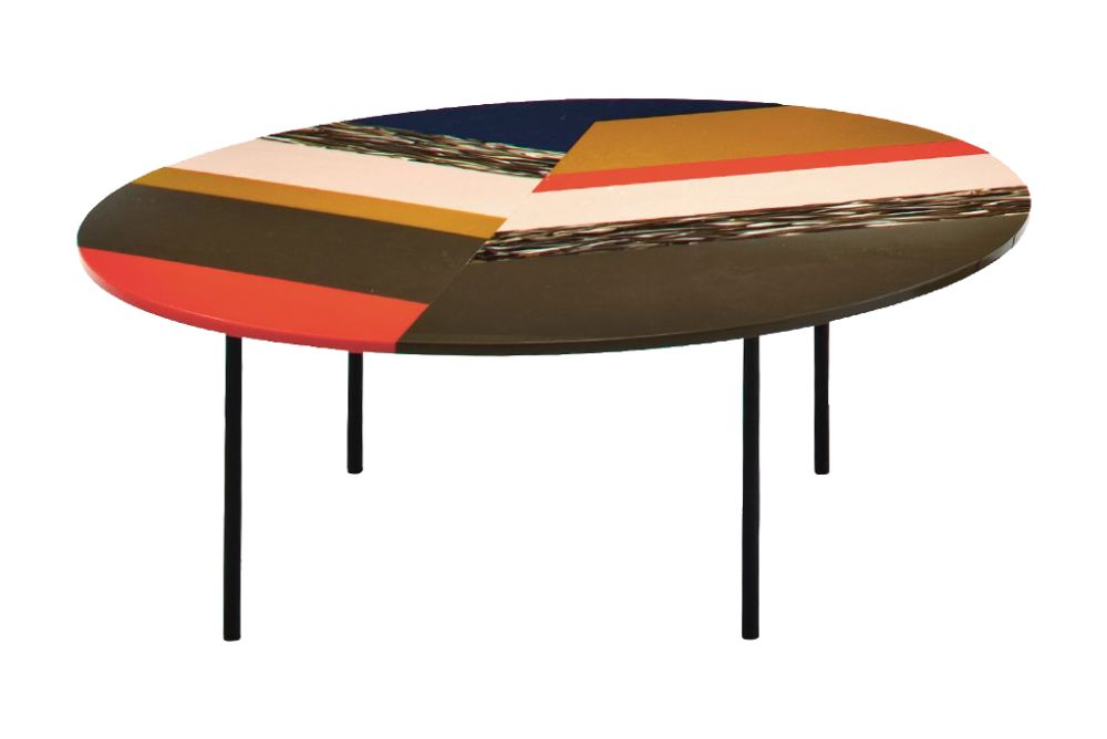 Fishbone Round Table by Moroso