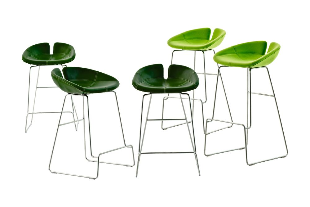 Fjord Stainless Base Barstool by Moroso