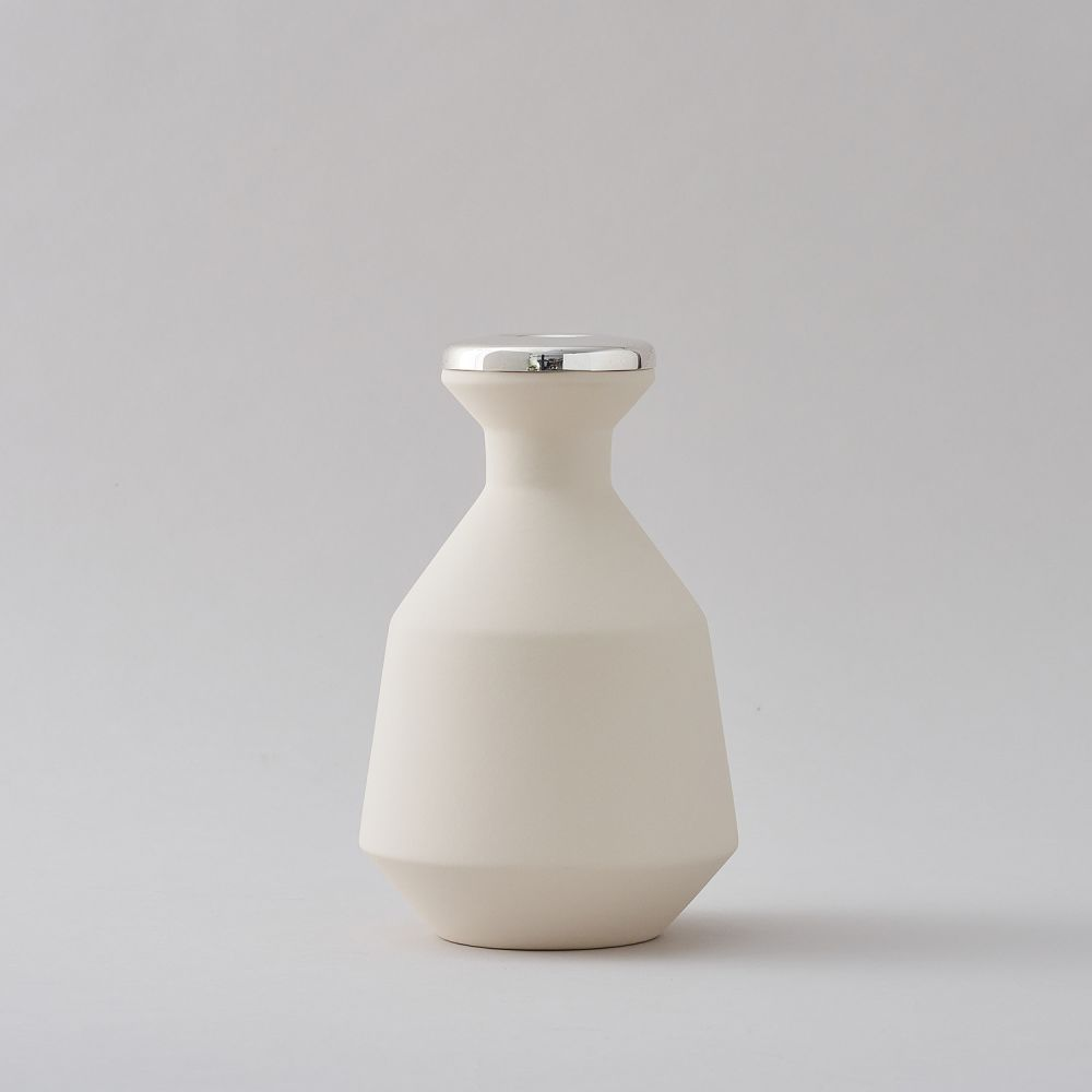 White Small Vase by Hend Krichen