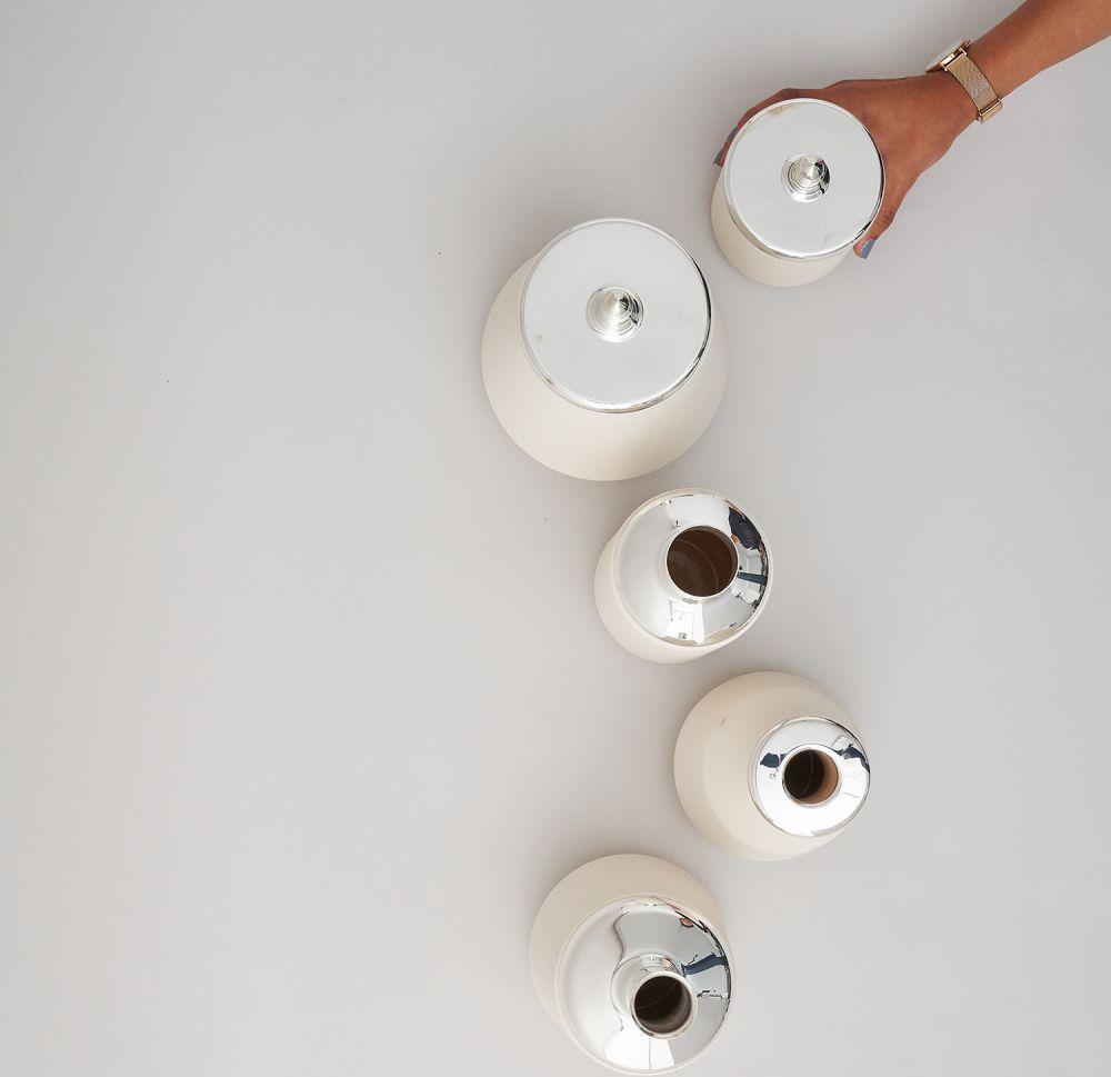 White Small Jar by Hend Krichen