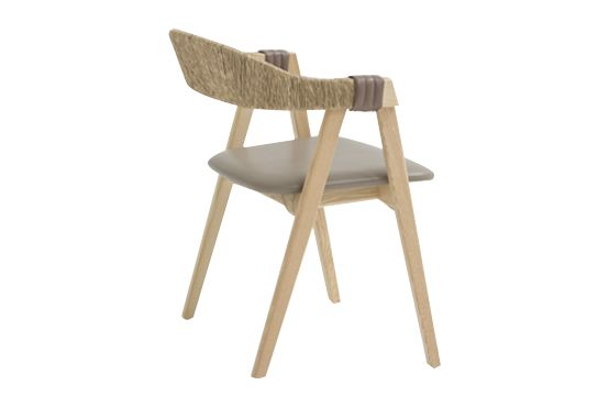 Mathilda Chair with Straw Back by Moroso