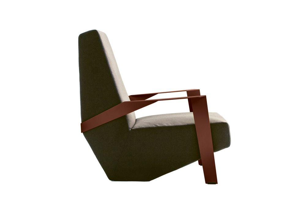 Silver Lake Armchair padded Side by Moroso