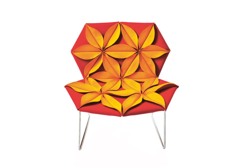 Antibodi Multicolor armchair with flowers by Moroso