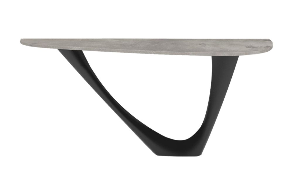 G-Console Mono Table with Concrete Top by Zieta