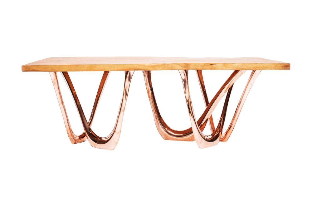 G-Table with Wood Top by Zieta