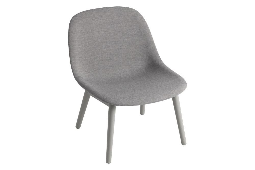 Fiber Lounge Chair with Wood Base by Muuto
