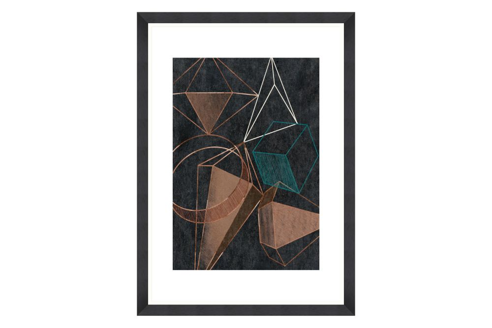 Copper Geometry Framed Art by Mind The Gap