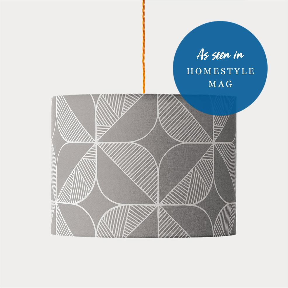 Rosette Lampshade (Grey) by Sian Elin