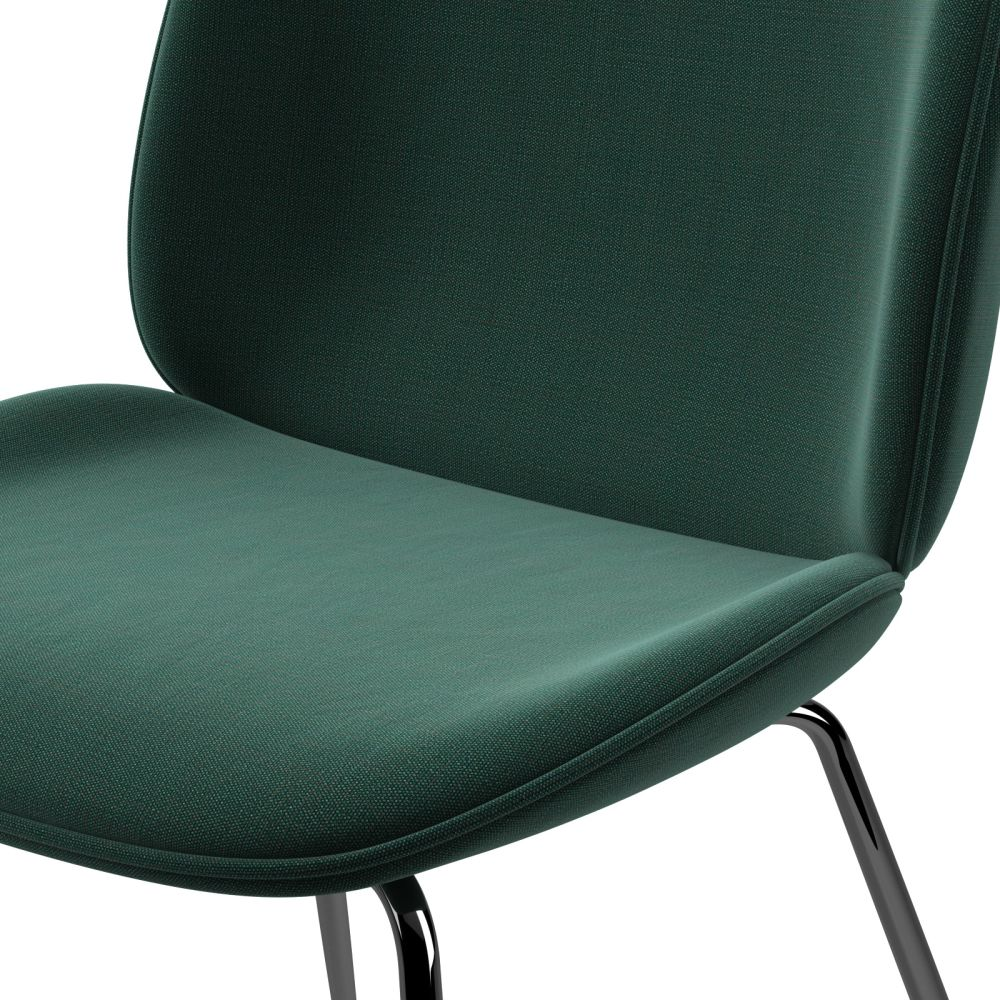 Beetle Dining Chair - Conic Base - Fully Upholstered by Gubi