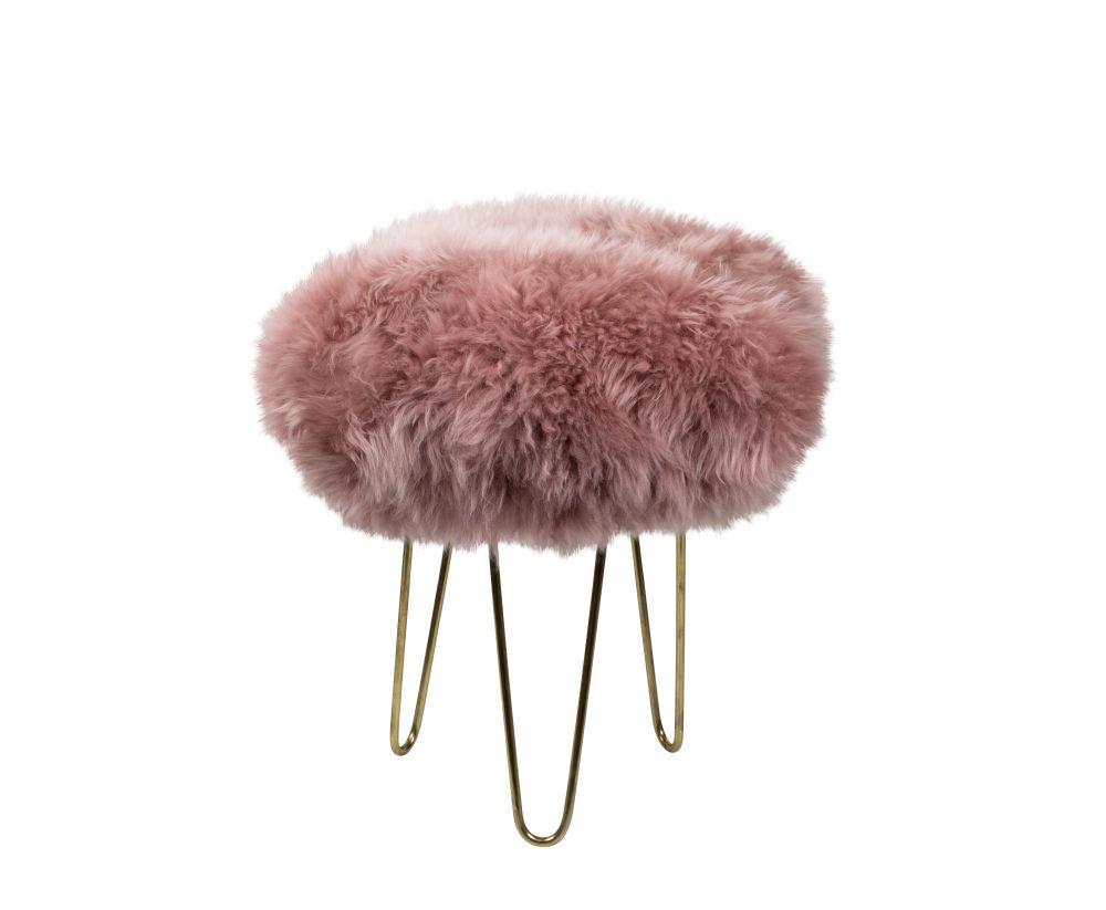 Nina - Sheepskin Footstool  by Baa Stool