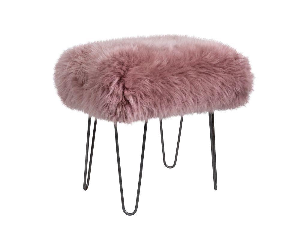 Ffion - Sheepskin Footstool  by Baa Stool