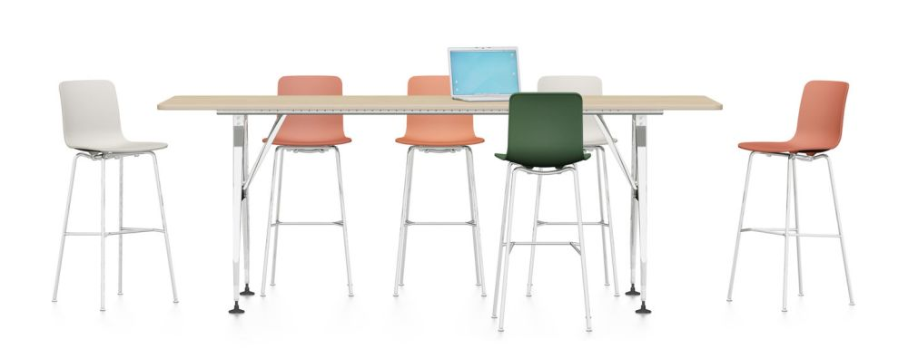 Ad Hoc Solitaires High Meeting Rectangular Table by Vitra