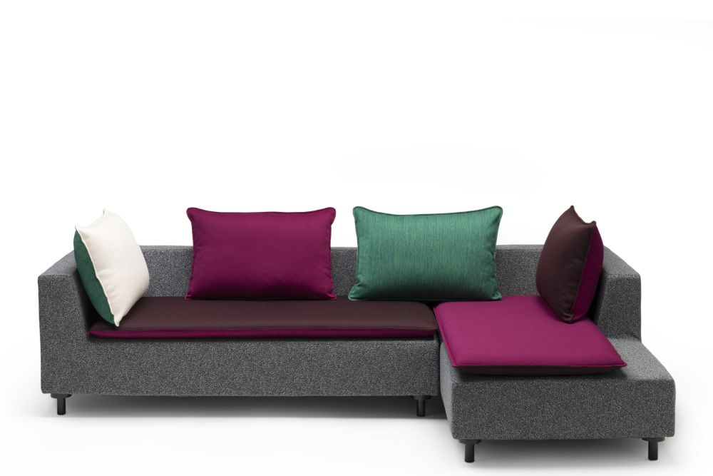 Barbican L-Shaped Sofa with 4 cushions by Established & Sons