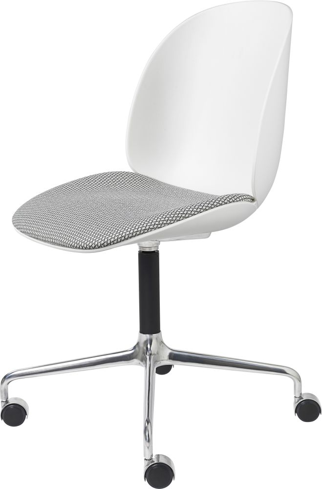 Beetle Meeting Chair - 4-Star Base W/ Castors Seat Upholstered Shell by Gubi