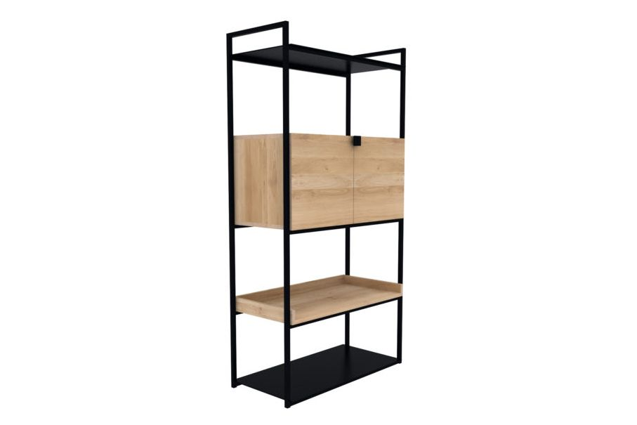 Cell Unit Storage Cupboard with 2 Doors and Additional Shelf by Ethnicraft
