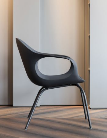 Elephant Lounge Armchair with Polyurethane Seat by Kristalia