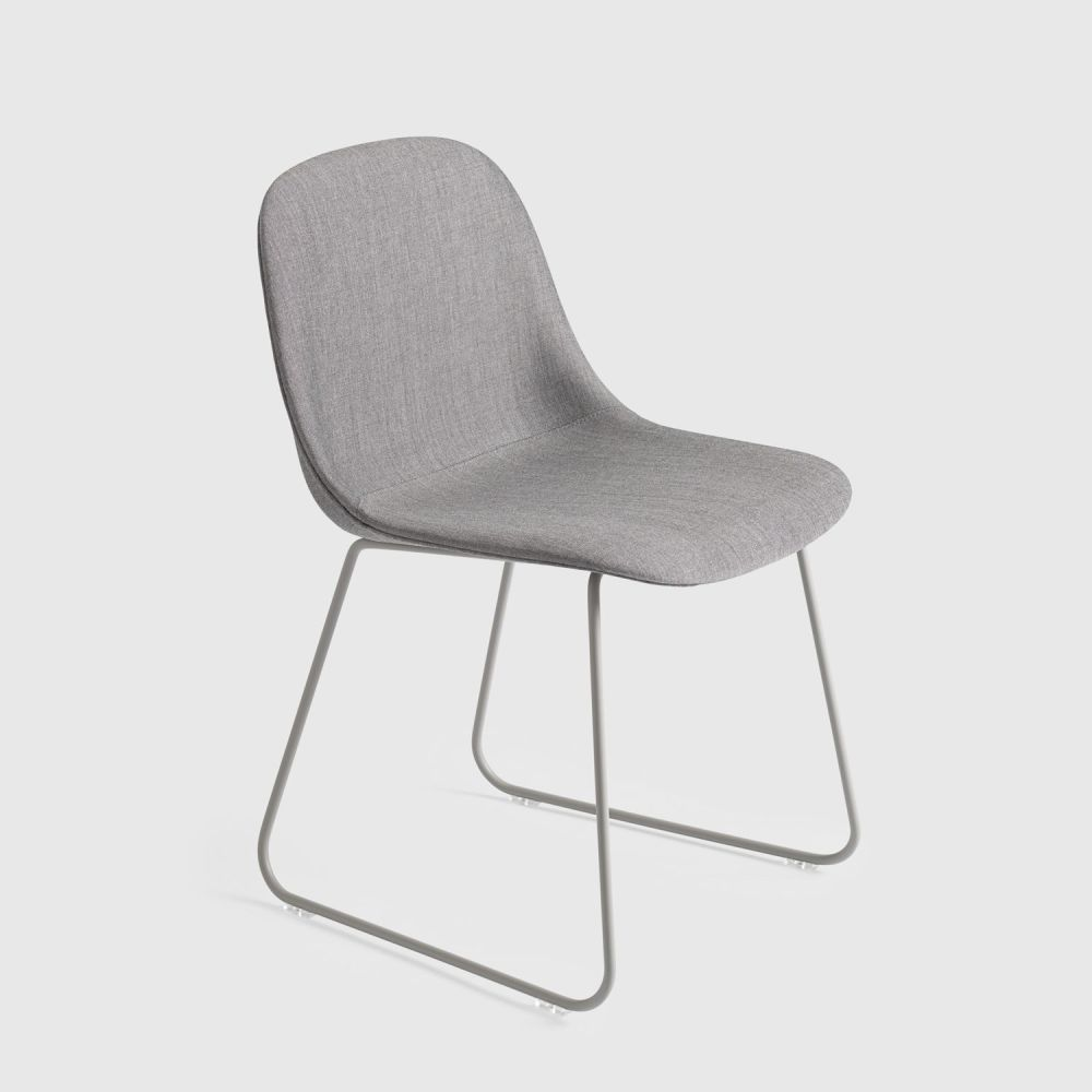 Fiber Side Chair Sled Base - Upholstered by Muuto