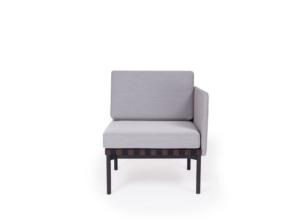 Grid - Armchair with one side Armrest by Petite Friture