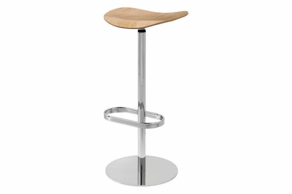 Gubi 2D Bar Stool Swivel Base- Unupholstered by Gubi