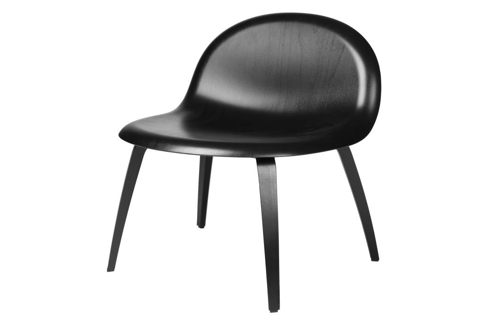 Gubi 3D Lounge Chair Wood Base - Unupholstered by Gubi