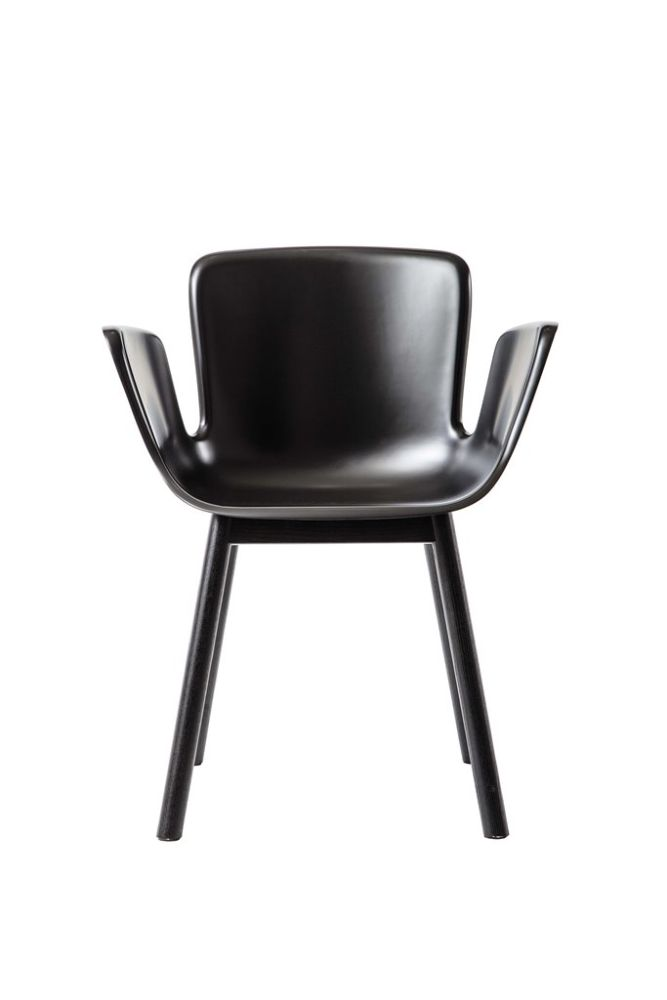 Juli Plastic Armchair with Wooden Legs by Cappellini
