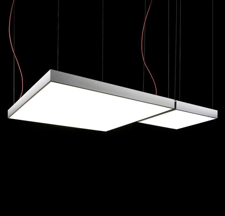 L Flow Square Pendant Light by B.LUX