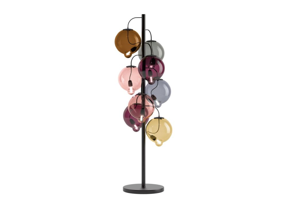 Meltdown Cluster Floor Lamp 8 Diffuser by Cappellini