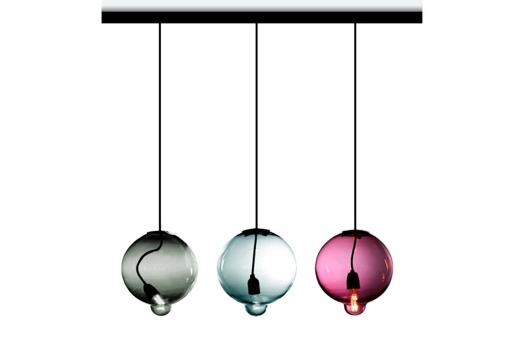 Meltdown Linear Pendant Light With 3 Diffusers by Cappellini