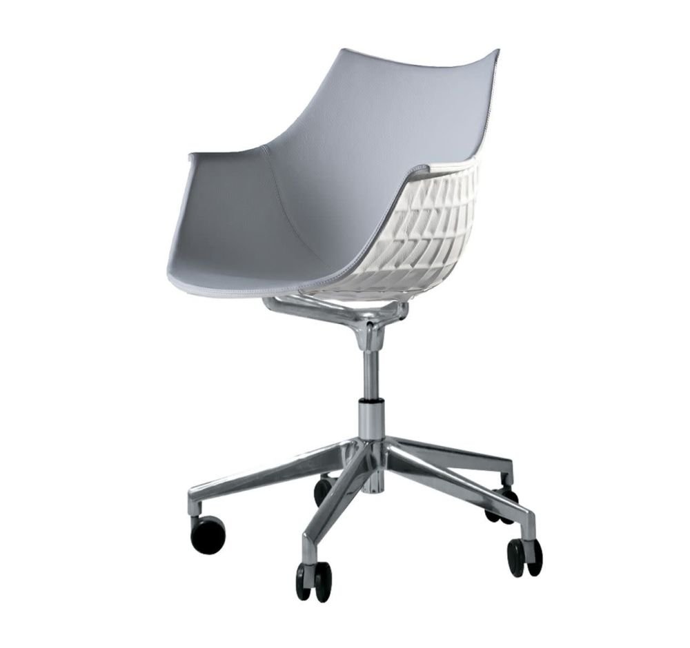 Meridiana Chair on Soft Castors Upholstered by Driade