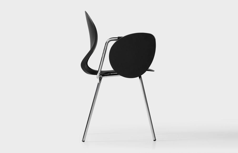 Pikaia Four Legs Stackable Armchair by Kristalia