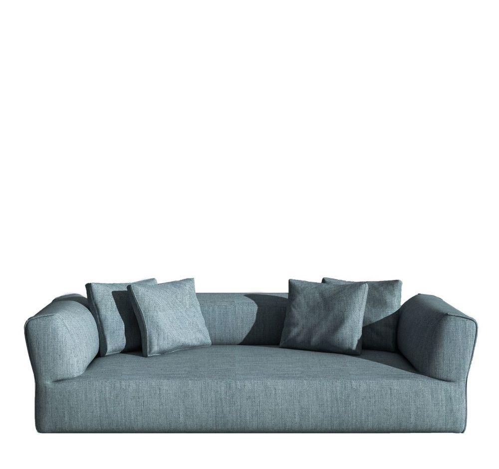 Rever Four-seater sofa by Driade