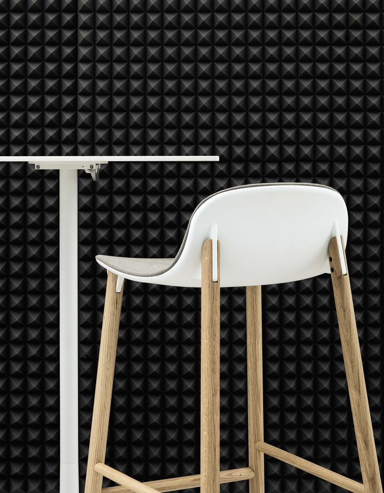 Sharky Stool Lowback - Wooden Base With Seat Upholstery by Kristalia