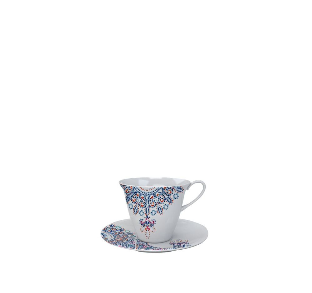 The White Snow Luminarie - Tea Cup with Saucer Set of 6 by Driade