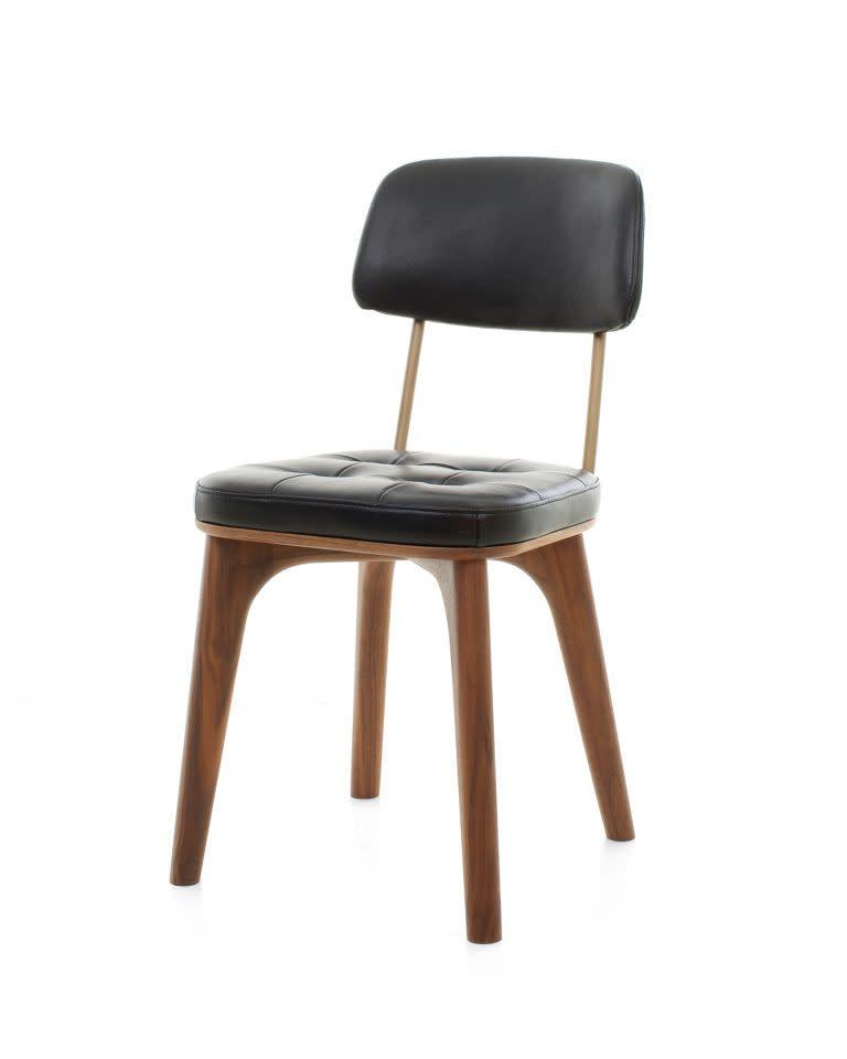 Utility Dining Chair U Wood Natural Walnut Newcastle Dark Brown New